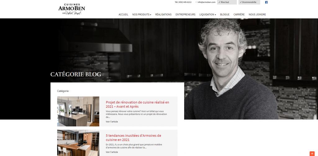 Blogue Cuisines Armoben et fondateur Patrick Benoît