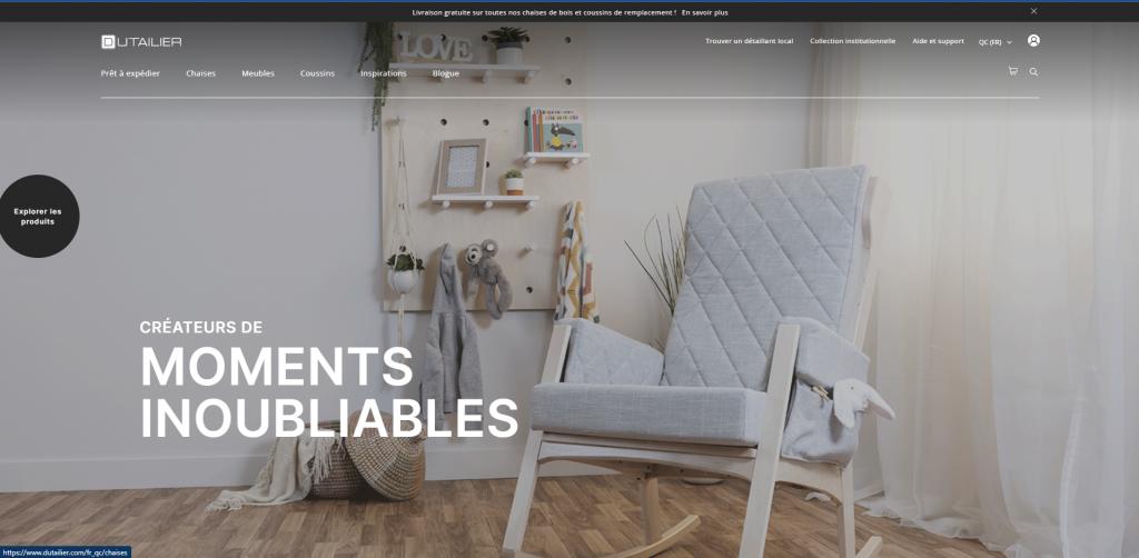 Dutailier, fabricant de mobilier de chambres d'enfant et de fauteuils berçants